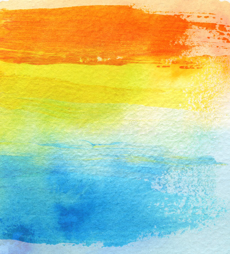 Abstract acrylic and watercolor brush strokes painted background. Texture paper royalty free stock image
