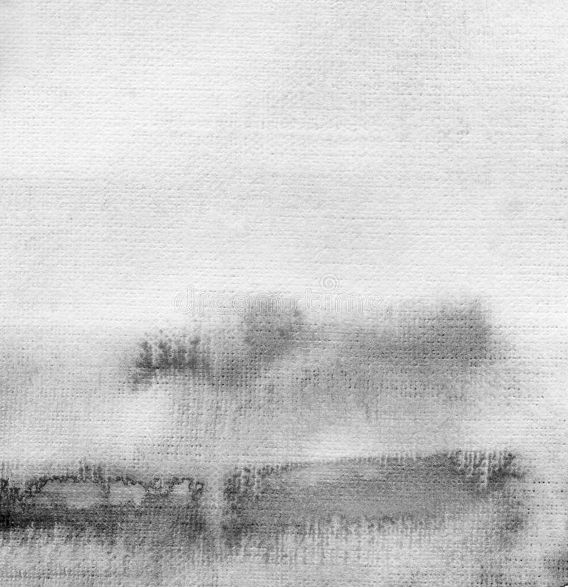 Abstract acrylic and watercolor brush strokes painted background. Texture paper stock photography