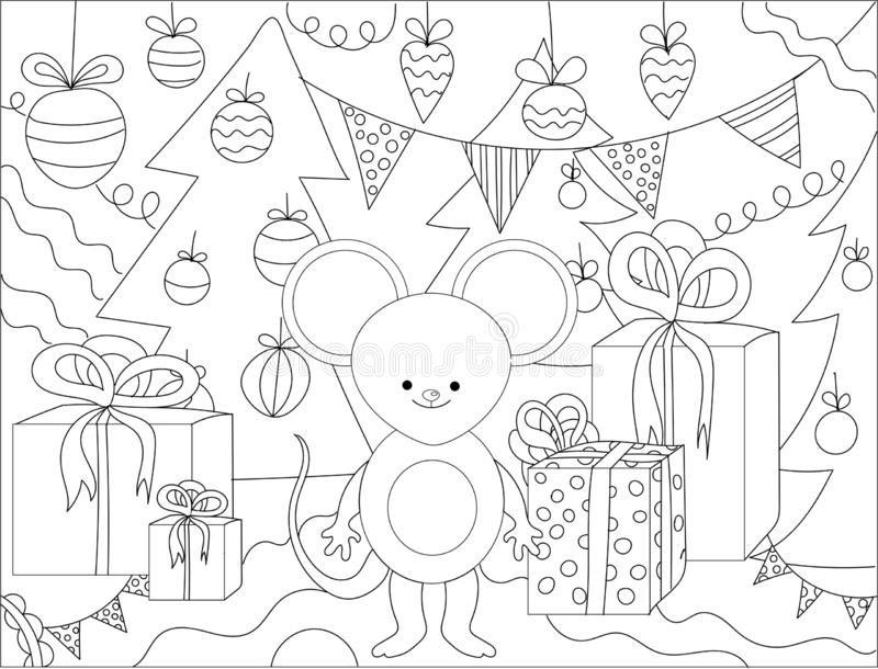 Abstract, adult, art, background, black, book, cartoon, children, christmas, coloring, coloring book, coloring pages, contour, vector illustration