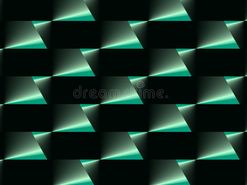 Abstract advertising green geometric gradient background, dynamic modern pattern stock illustration