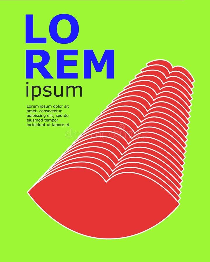 Abstract afficheontwerp Reeks van brochure, de malplaatjes van het vliegerontwerp met lijnvormen Vectorillustraties voor zaken royalty-vrije illustratie