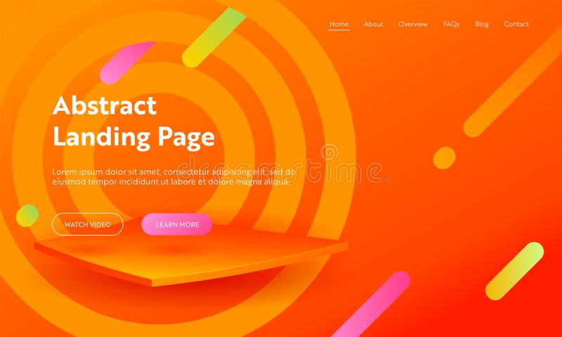 Abstract Aim Marketing Agency Landing Page Template. Bright Backdrop for Gradient Advertising Layout Concept for Website. Abstract Aim Marketing Agency Landing vector illustration
