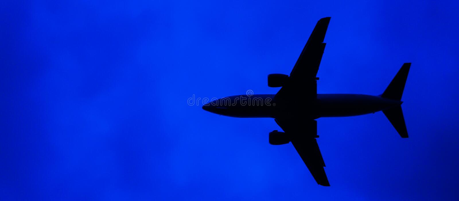 Abstract airplane royalty free stock photos