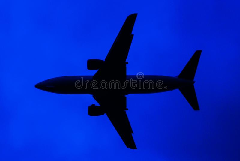Abstract airplane royalty free stock image