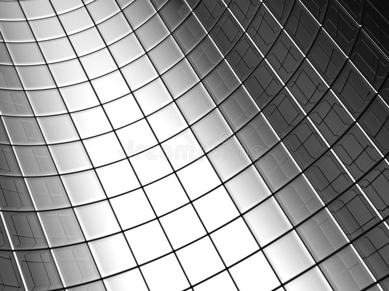 Abstract aluminum curve square pattern background stock images