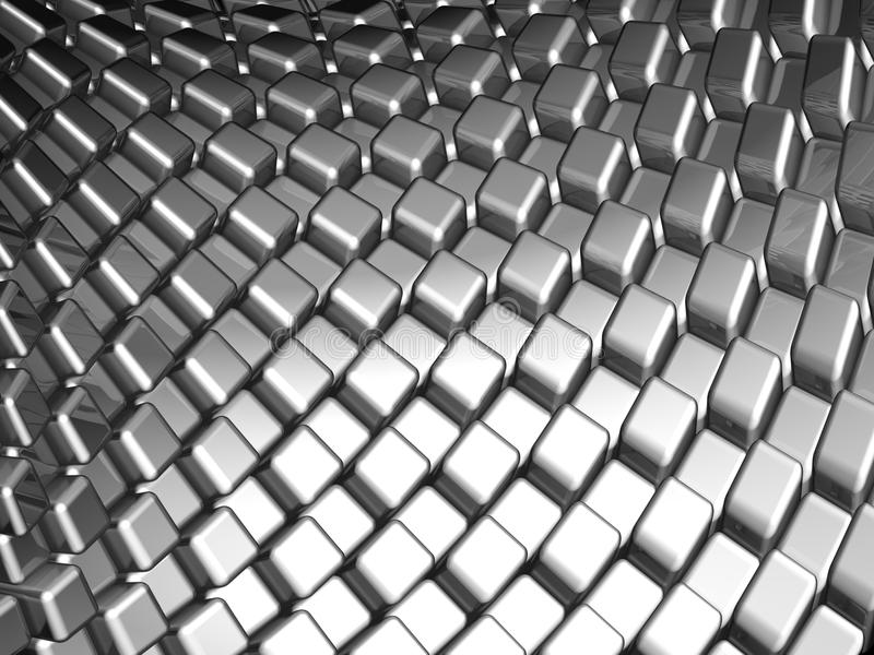 Abstract aluminum dynamic cube background royalty free stock images