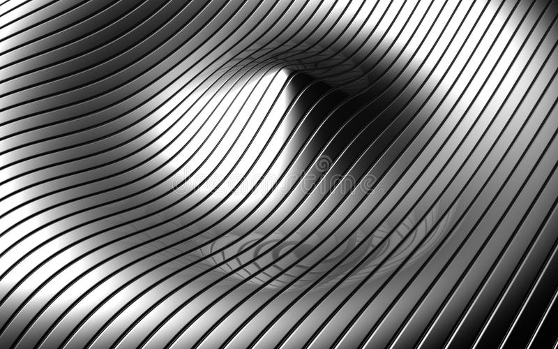 Abstract aluminum ripple pattern background stock images