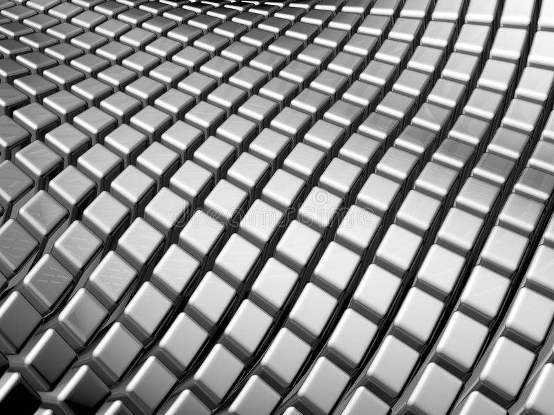 Abstract aluminum square background stock photography