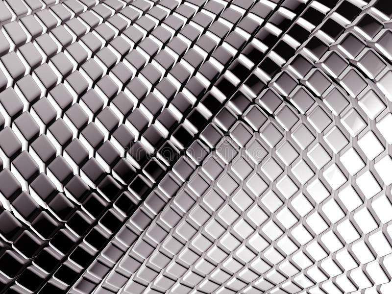 Abstract aluminum square background royalty free stock images