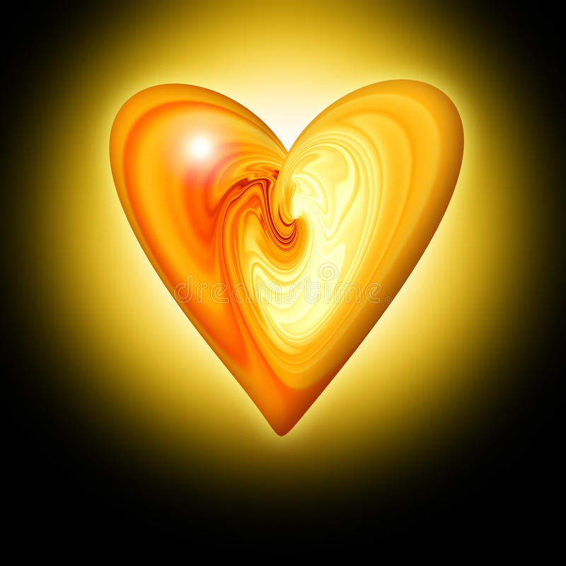 Free Abstract Amber Heart Royalty Free Stock Photo - 12448405