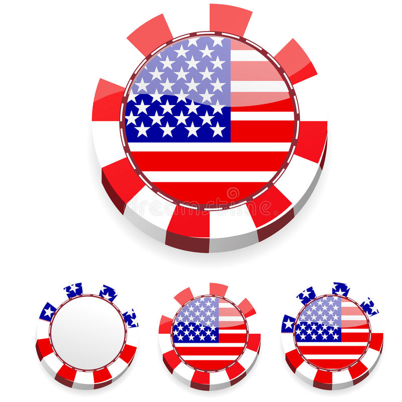 Abstract america casino chips stock illustration