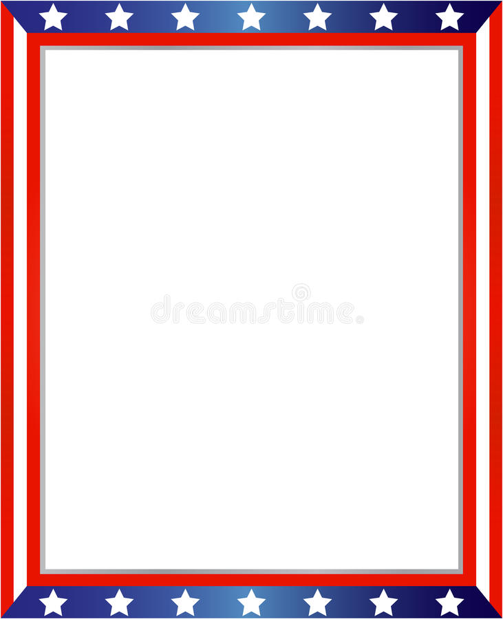 Abstract American Flag Frame Stock Vector - Illustration of empty ...