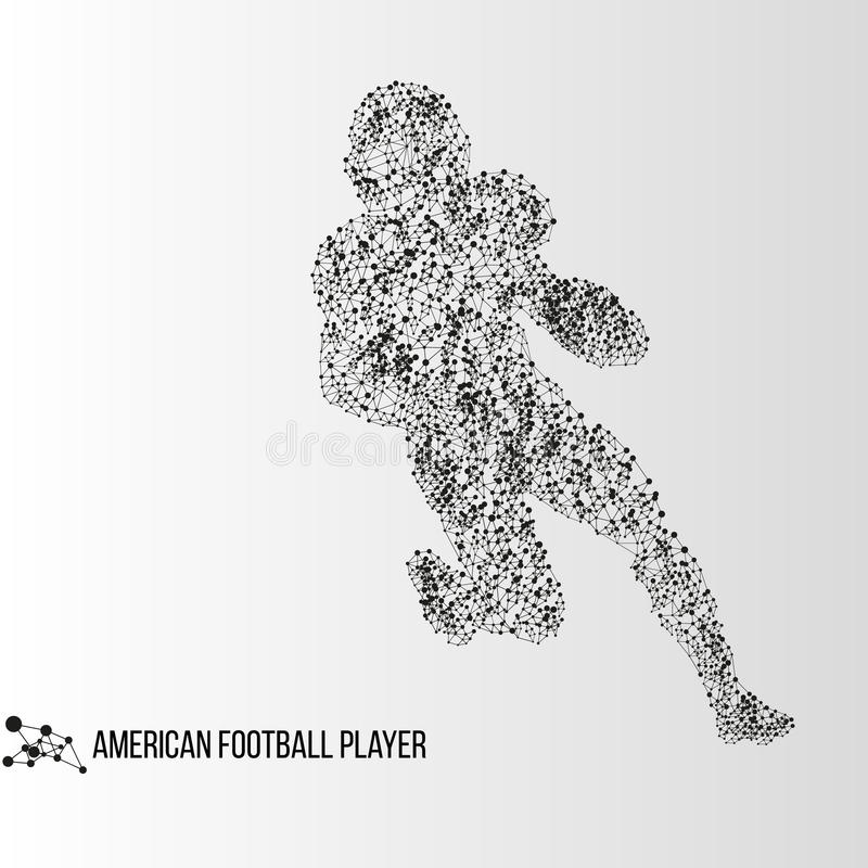 Abstract american football player stock photo