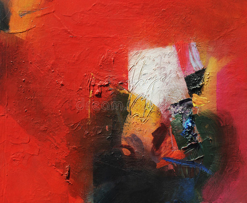 Abstract analog painting stock illustration