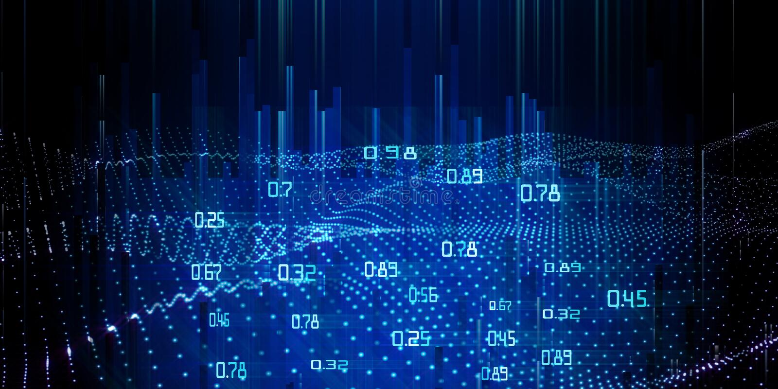 Abstract analysis infographics background.  Spatio temporal mining data. Big data royalty free stock photos