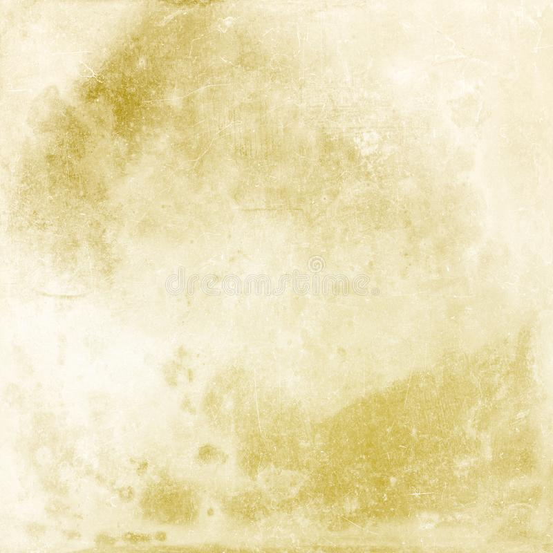 Beige grunge background, old paper texture, stains, streaks, scratches, blank, antique, vintage, retro, design stock images