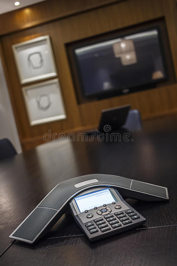 Abstract Angle Conference Phone royalty free stock photo