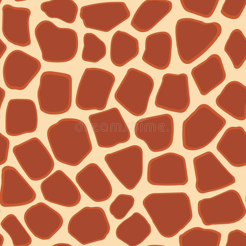 Abstract animal giraffe fur seamless pattern. vector illustration