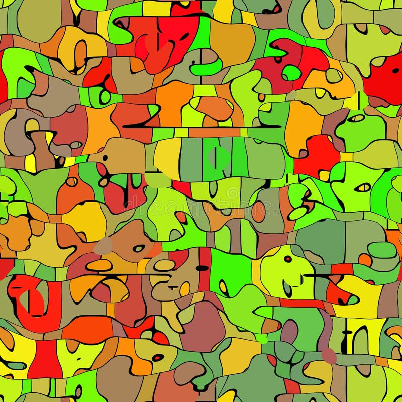 Abstract animals. Animals motifs - abstract ccolored omposition royalty free illustration