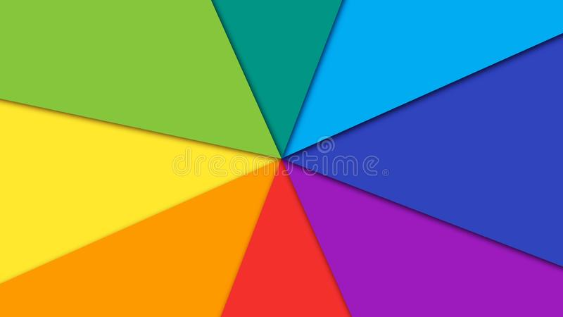 Abstract animation of black equalizer in the center of white circle on the colorful rotating rainbow background vector illustration