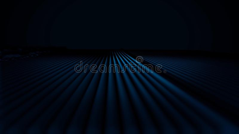 Abstract animation of color pulsating lines on black background. Colorful field of lines pulsating like artificial waves stock illustration