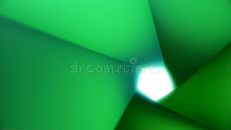 Abstract animation of colorful geometric polygonal tunnel with light shining in the end. Animation. Colorful 3d animated royalty free illustration
