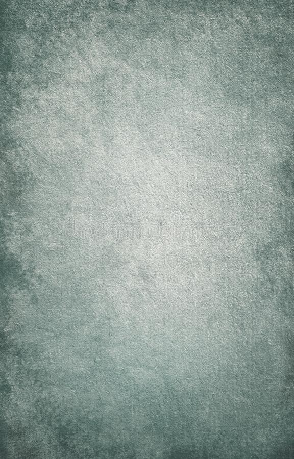 Blue grunge background, paper texture, vintage, retro, stains, stains, blank, gray, rough, old, space for text, for design stock illustration
