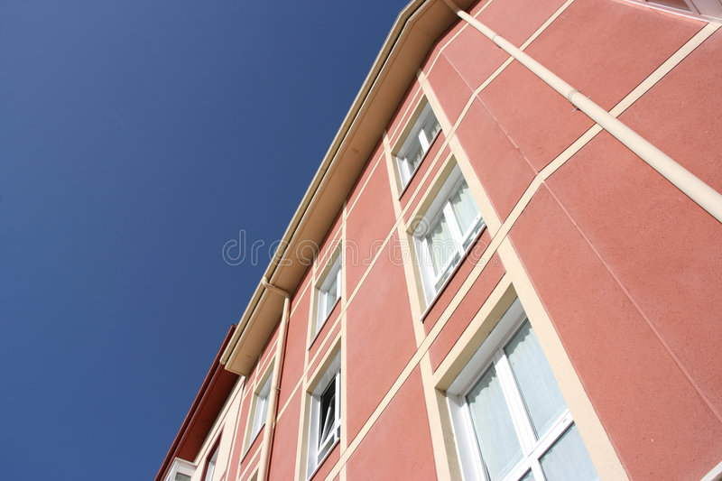 Abstract apartment building royalty free stock photo