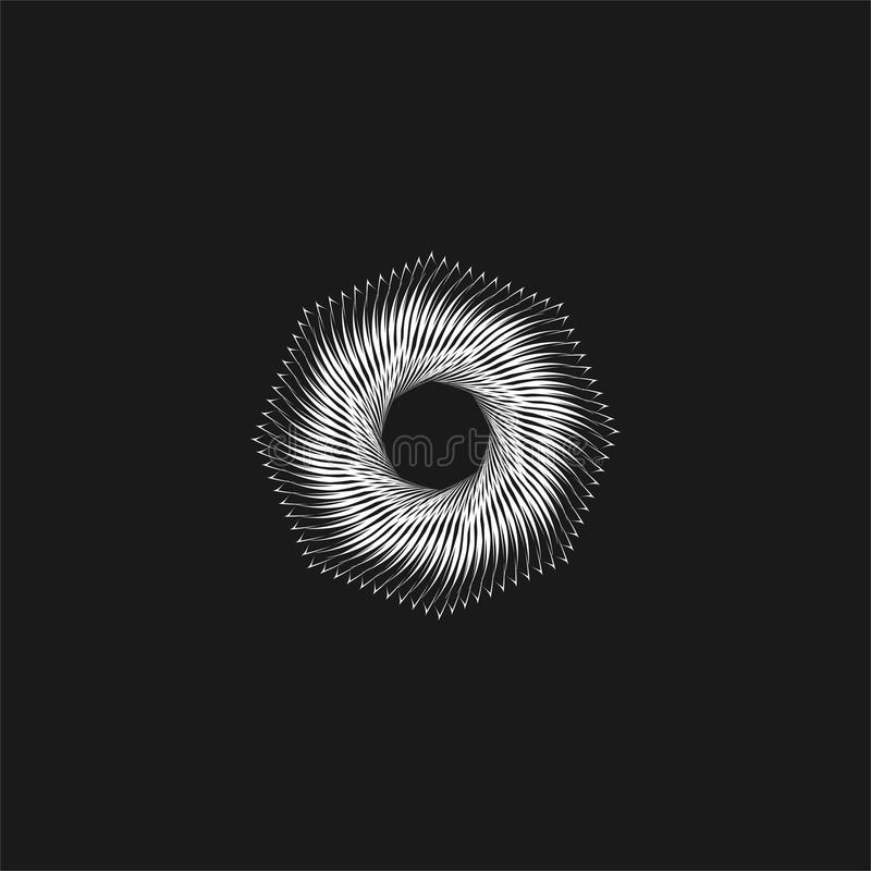 Abstract aperture. Logo design on a white background stock illustration