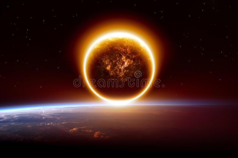 Abstract apocalyptic background royalty free stock images
