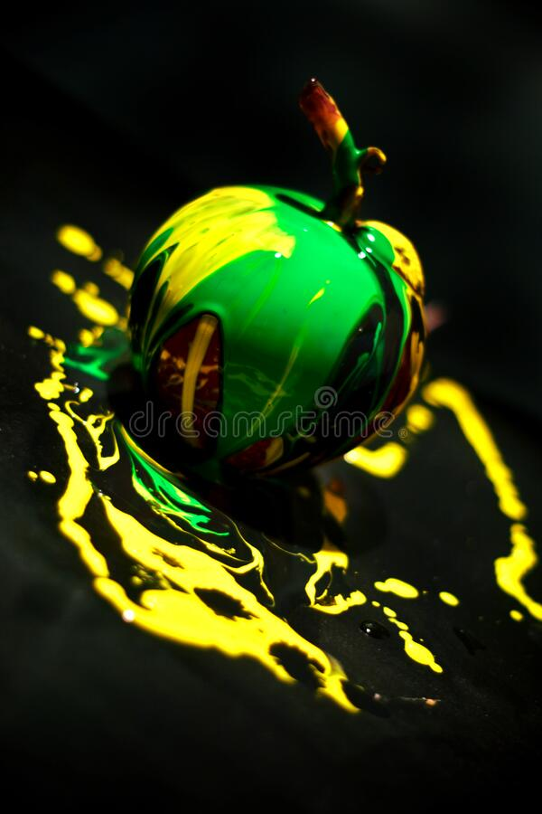 Abstract apple royalty free stock images