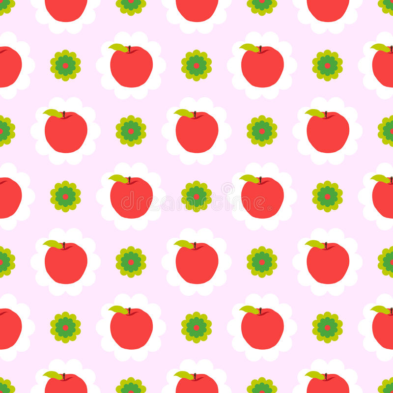 Abstract apple pattern background royalty free illustration