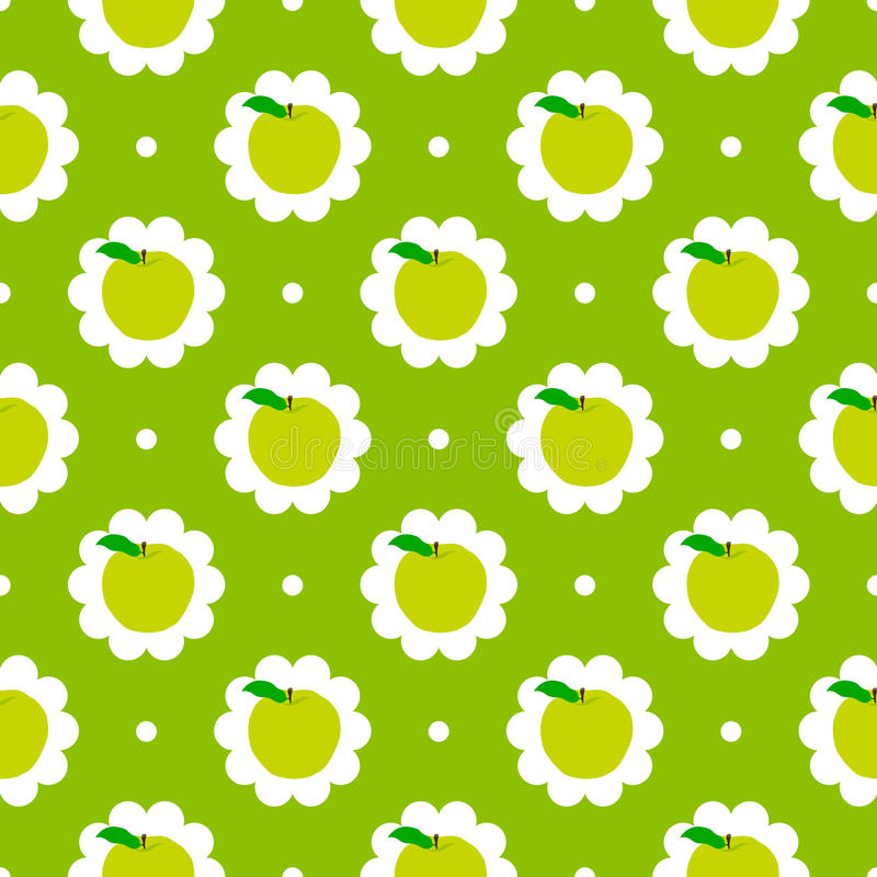 Abstract apple pattern background vector illustration