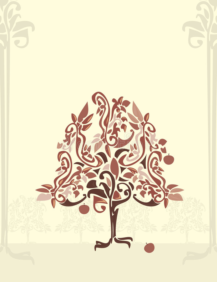 Abstract apple tree 3 royalty free illustration
