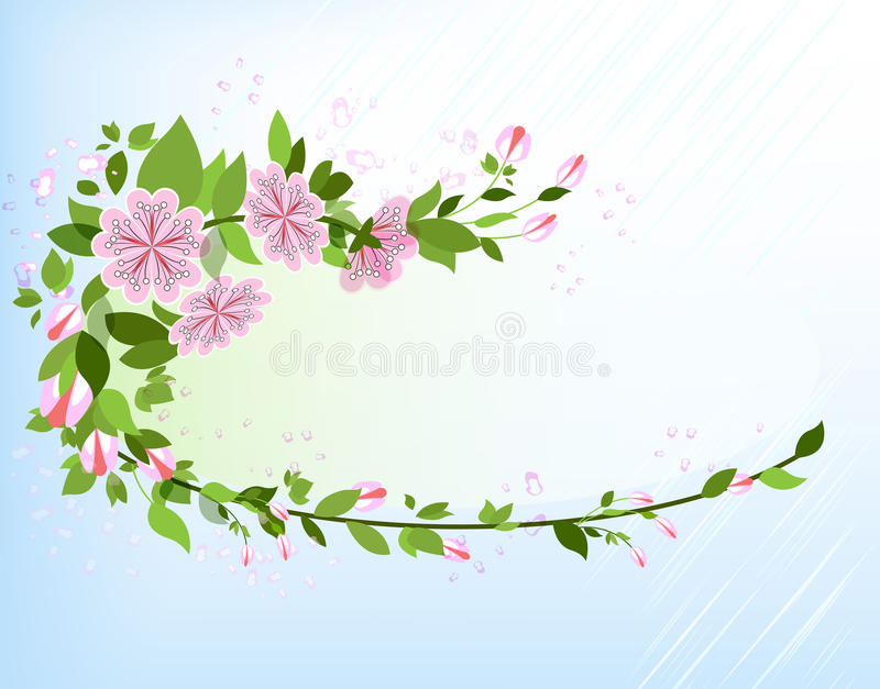 Download Abstract apple tree branch stock vector. Image of flower - 26329789
