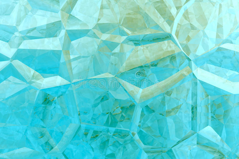 Abstract aquamarine 3D background stock illustration