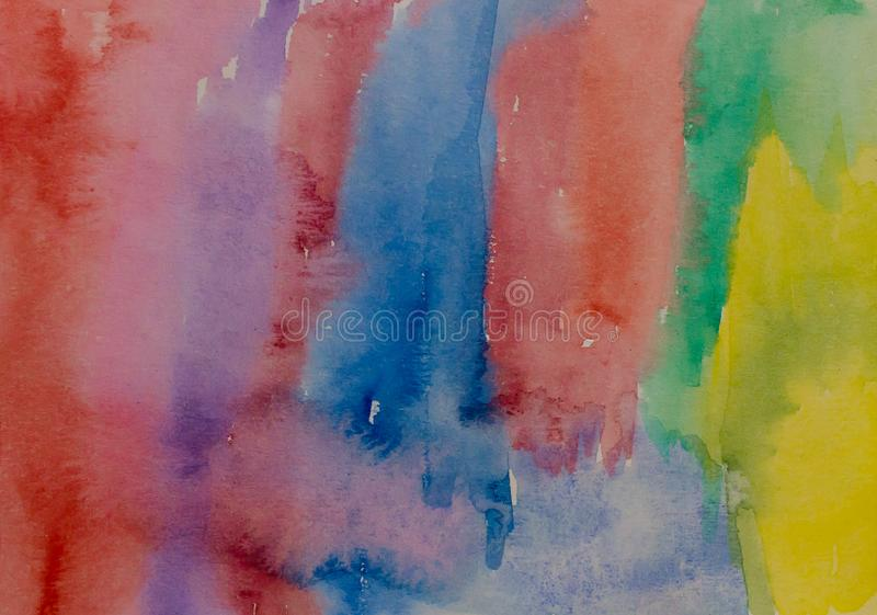 Abstract aquarell background. Multicolored watercolor painted texture. Abstract blue aquarell background. Multicolored watercolor painted texture royalty free stock photos