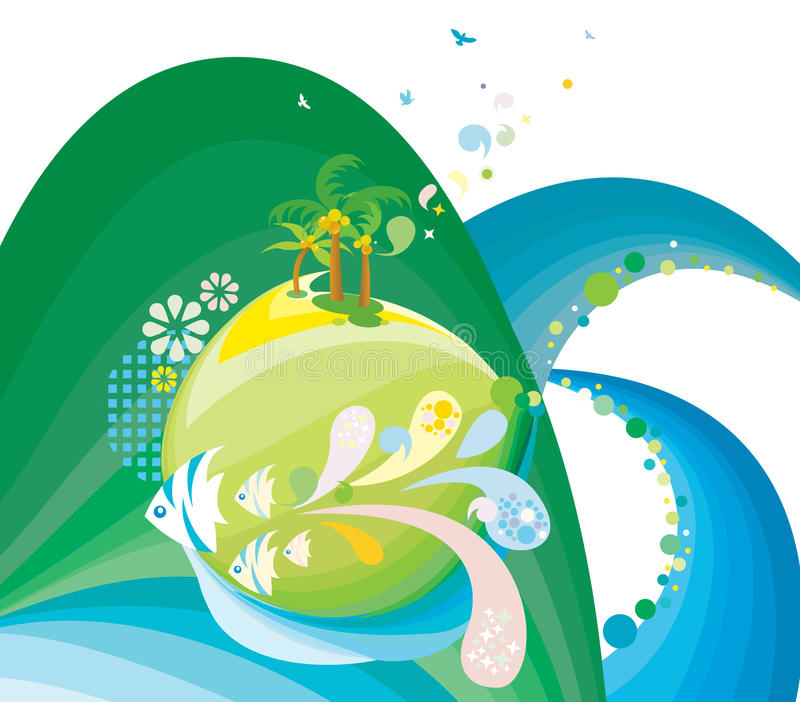 Abstract aquatic background vector illustration