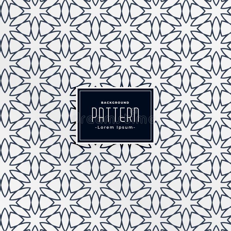 Abstract arabic decorative pattern background stock illustration