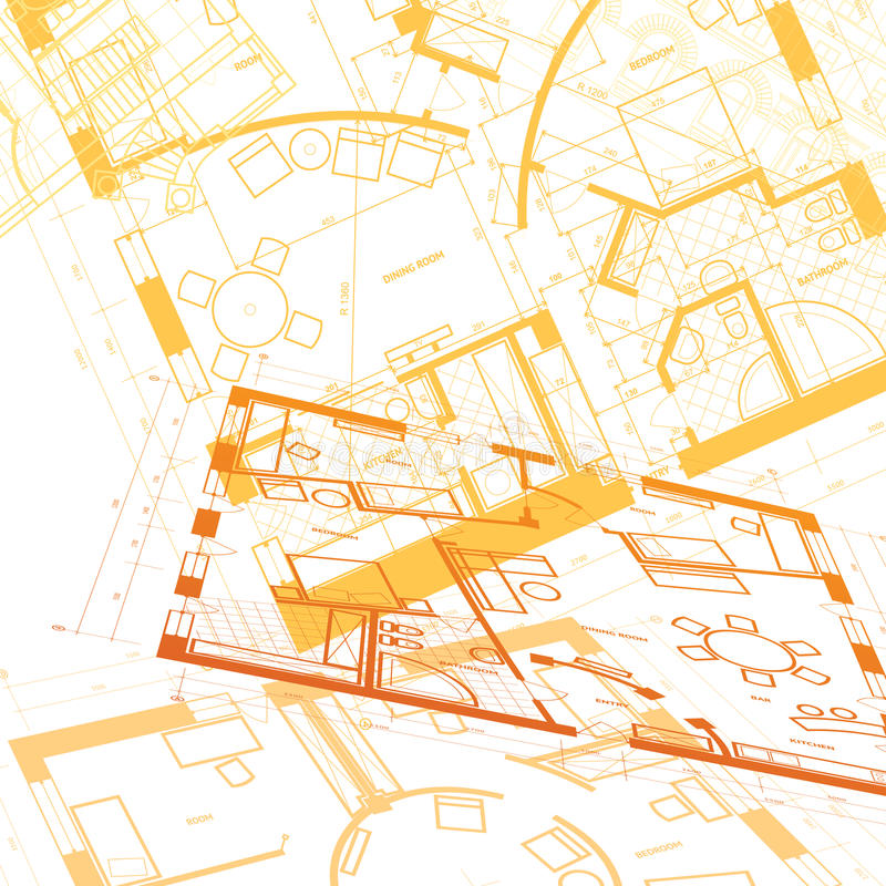 Abstract architectural background royalty free illustration