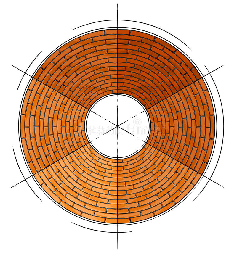 Download Abstract Architectural Brick Circle Symbol Stock Illustration - Image: 11461816