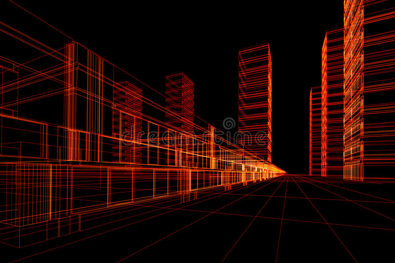 Abstract architectural construction stock illustration