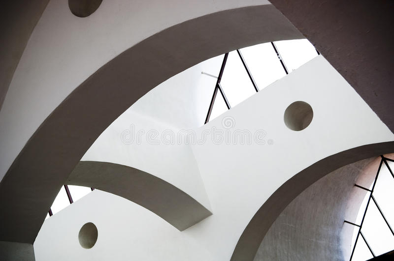 Abstract Architecture. Curves and geometric shapes in abstract architecture stock photo