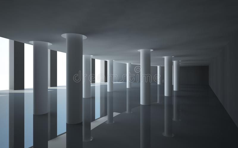 Download Abstract architecture stock illustration. Illustration of hall - 25433726