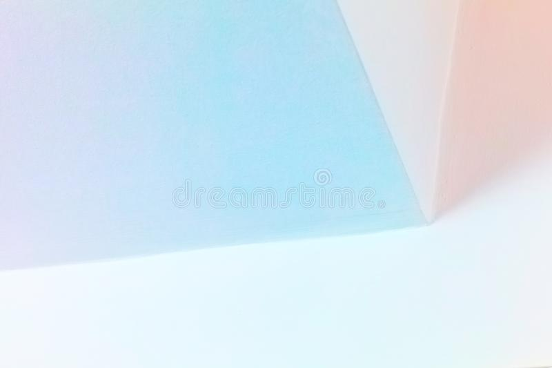 Abstract architecture background. Bright colorful interior design with illuminated corner stock photography