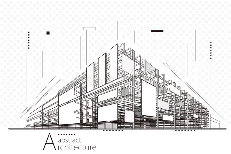Abstract Architecture Background royalty free illustration