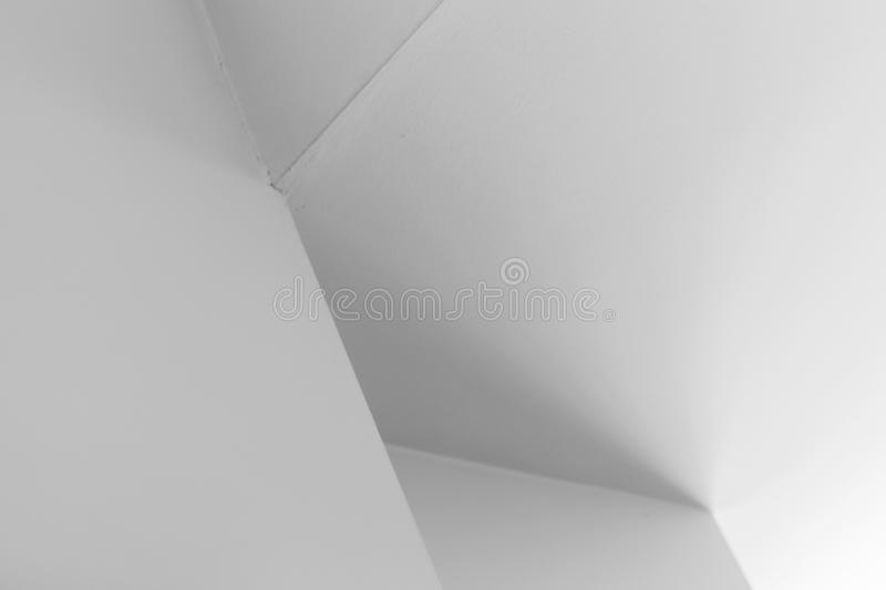 Abstract architecture background, corners. Abstract architecture background, white interior design with corners and soft shadows, black and white photo royalty free stock photos