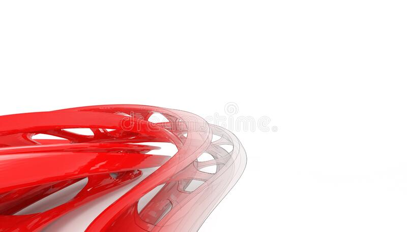 Futuristic White Architecture Design Background Stock