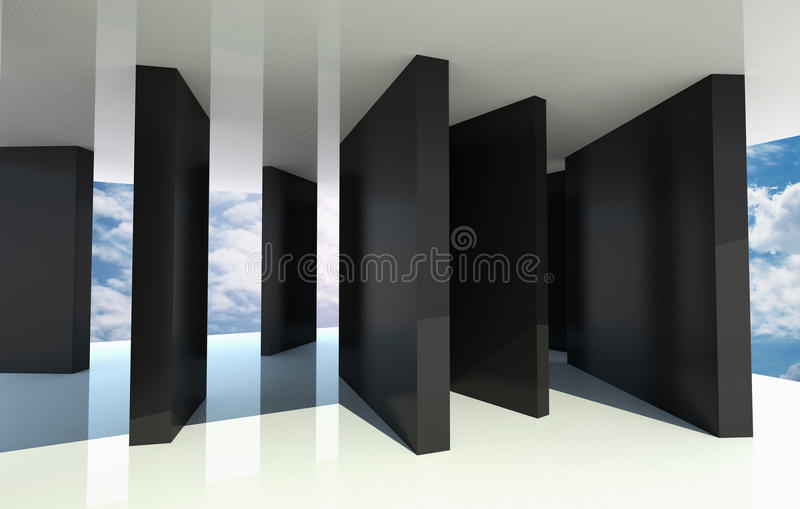 Download Abstract Architecture With Blue Sky Stock Illustration - Image: 26616403