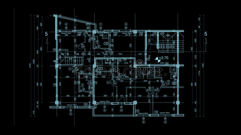 Abstract architecture blueprint stock illustration illustration of abstract architecture blueprint on black background made in 2d software malvernweather Image collections